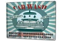 Perpetual Calendar Vintage Car Car wash Tin Metal Magnetic