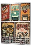 Perpetual Calendar Garage Car service Tin Metal Magnetic