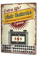 Perpetual Calendar Garage Car battery Tin Metal Magnetic