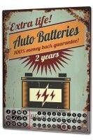 Perpetual Calendar Vintage Car Auto Batteries Tin Metal...
