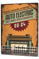 Perpetual Calendar Garage auto electric Tin Metal Magnetic