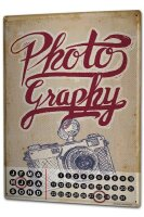 Perpetual Calendar Nostalgic Professional Photography Tin...