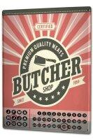 Perpetual Calendar Nostalgic Professional Butcher Tin...