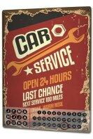 Perpetual Calendar Home Office car service Tin Metal...