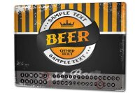 Perpetual Calendar Brewery Beer Kitchen Cold Beer Tin...
