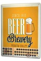 Perpetual Calendar Brewery Beer Kitchen Brewery Tin Metal...