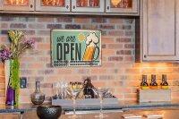 Perpetual Calendar Brewery Beer Kitchen Open Tin Metal...
