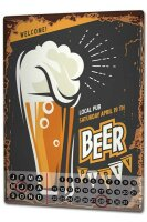 Perpetual Calendar Brewery Beer Kitchen Beer party Tin...