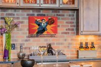 Perpetual Calendar Fun Kitchen Superman Tin Metal Magnetic
