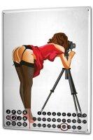 Perpetual Calendar Bar Party Photo shoot model Tin Metal...