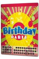 Perpetual Calendar Greeting Card Birthday party Tin Metal...
