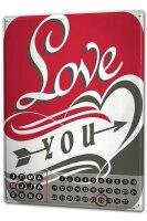 Perpetual Calendar Marriage Happiness Love you Tin Metal...