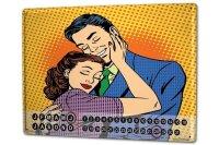 Perpetual Calendar Marriage Happiness Love Tin Metal...