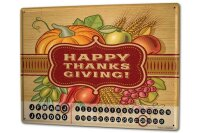 Perpetual Calendar Retro Thanks giving Tin Metal Magnetic