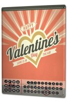 Perpetual Calendar Retro Valentines day Tin Metal Magnetic
