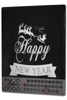 Perpetual Calendar Retro Happy new Year Tin Metal Magnetic