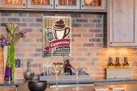 Perpetual Calendar Restaurant Kitchens Cappuccino Tin...