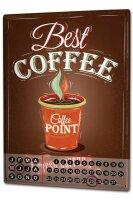 Perpetual Calendar Coffee Cafe Bar Fresh coffee Tin Metal...