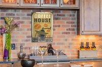 Perpetual Calendar Coffee Cafe Bar coffee house Tin Metal...