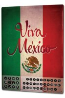 Perpetual Calendar Holiday Travel Agency Viva Mexico Tin...