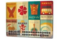 Perpetual Calendar Holiday Travel Agency Hawaii Tiki Bar...