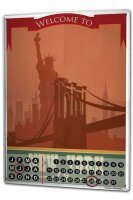 Perpetual Calendar Holiday Travel Agency New York Tin...