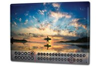 Perpetual Calendar Holiday Travel Agency Surfer sunset...