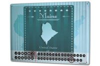 Perpetual Calendar Holiday Travel Agency Maine America...