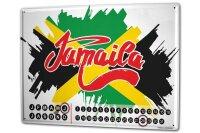 Perpetual Calendar Holiday Travel Agency Jamaica Tin...