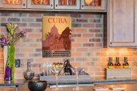 Perpetual Calendar Holiday Travel Agency Cuba Tin Metal...
