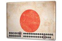 Perpetual Calendar Holiday Travel Agency Japan Tin Metal...
