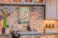 Perpetual Calendar Kitchen Pizza Tin Metal Magnetic