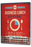 Perpetual Calendar Kitchen Business lunch Tin Metal Magnetic