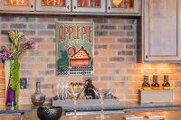 Perpetual Calendar Kitchen Apple Pie Tin Metal Magnetic