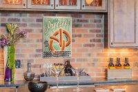 Perpetual Calendar Kitchen Pretzels Tin Metal Magnetic