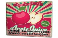 Perpetual Calendar Kitchen Apple juice Tin Metal Magnetic