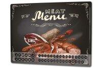 Perpetual Calendar Kitchen Meat Tin Metal Magnetic