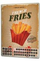 Perpetual Calendar Kitchen French fries Tin Metal Magnetic