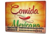 Perpetual Calendar Retro Mexican food Tin Metal Magnetic