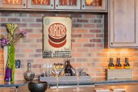 Perpetual Calendar Kitchen Burgers Tin Metal Magnetic