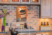Perpetual Calendar Kitchen Fast Food Tin Metal Magnetic