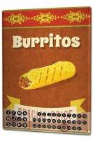 Perpetual Calendar Kitchen Burritos snack Tin Metal Magnetic