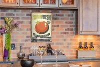 Perpetual Calendar Kitchen farmfresh Tin Metal Magnetic