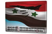 Perpetual Calendar Retro Fighter aircraft Tin Metal Magnetic