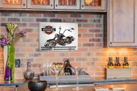 Perpetual Calendar Garage Chopper motorcycle Tin Metal...