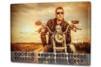 Perpetual Calendar Garage Biker Tin Metal Magnetic