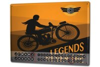 Perpetual Calendar Garage Legends Tin Metal Magnetic