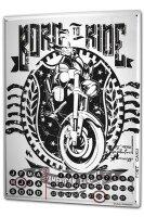 Perpetual Calendar Motorcycle Garage Born to Ride Tin...