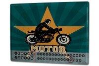 Perpetual Calendar Garage Motorcycle Tin Metal Magnetic