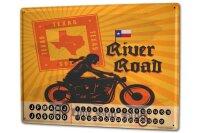 Perpetual Calendar Garage River Road Tin Metal Magnetic